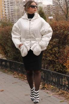 Оверсайз ультрамодная куртка с накладными карманами и объемными рукавами
