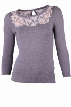 Пуловер С Ажурной Кокеткой С Доставкой
