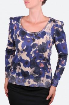 Стильный пуловер с абстрактным рисунком