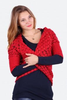 Кардиган с вышивкой вязанный из шерсти ажурной вязки