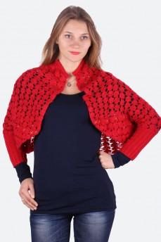 Кардиган вязанный из шерсти ажурной вязки