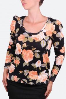 Блузка с рисунком розы