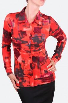 Рубашка трикотажная на декоративных кнопках