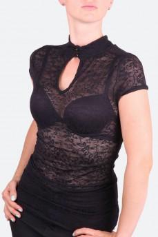 Блуза гипюровая силуэтная