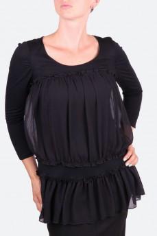 Блуза-туника с драпированным шифоном