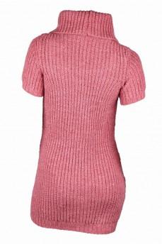 Удлиненный свитер из мохера объемной вязки