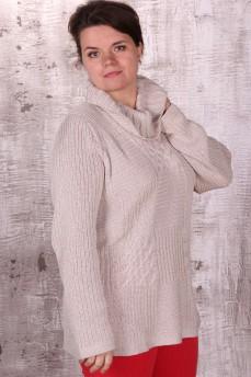 Свитер из хлопково-шелковой нити с воротником хомут