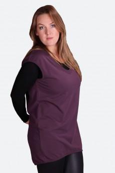 Пуловер-туника удлиненная
