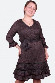 Платье романтическое с драпировкой по груди и шарфом