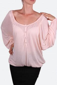 Блуза в стиле крестьянка цвета чайная роза