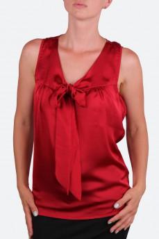 Блуза шелковая красная