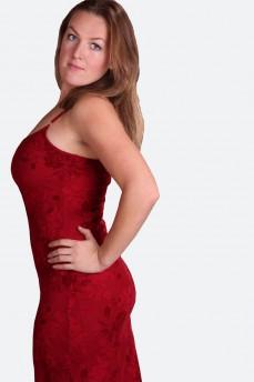 Платье из французского набивного гипюра
