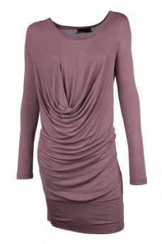 Платье-туника цвета орех
