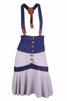 Сарафан-юбка со съемными брителями и высоким карсетным поясом