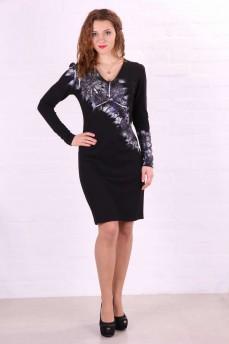 Трикотажное платье - футляр черное