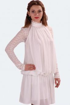 Шифоновое платье молочного оттенка