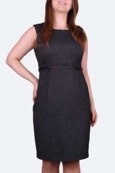 Платье прямого силуэта с поясом