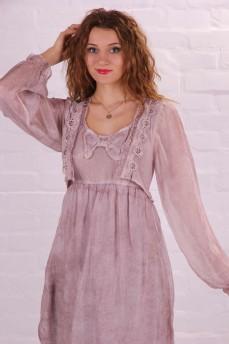 Платье льдисто-розовое