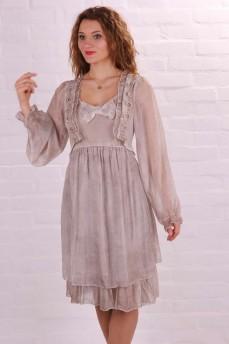 Платье шёлковое кремовое