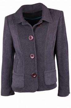 Пиджак из  ткани футер