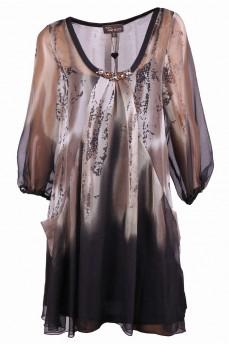 Платье шифоновое свободного кроя