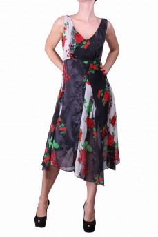 Платье алые розы