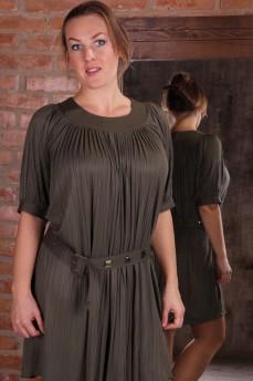 Платье оливковое