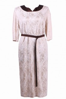 Гипюровое платье с отделкой из тафты