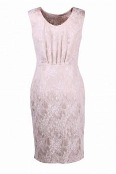 Гипюровое платье футляр с защипами