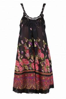 Сарафан черный в цветы