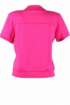 Пиджак розовый с коротким рукавом