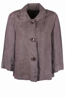 Пиджак льняной коричневый