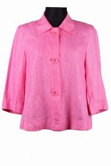 Пиджак  льняной розовый свободный