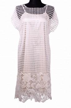 Платье из кружево макраме