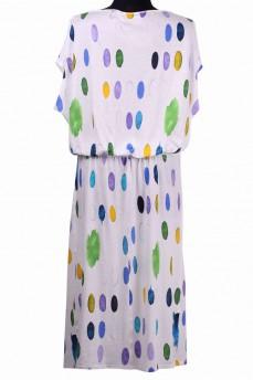 Платье с резинкой художественные мазки