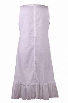 Платье белое из маркизета с кружевом