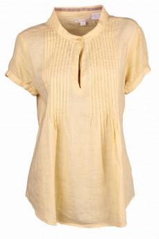 Блуза- туника желтого цвета льняная