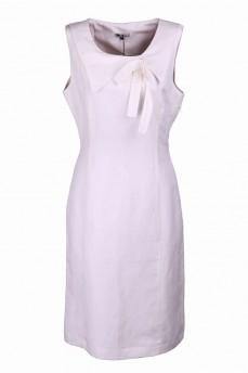 Платье льняное с бантом