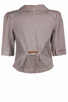 Пиджак с кружевом короткий рукав