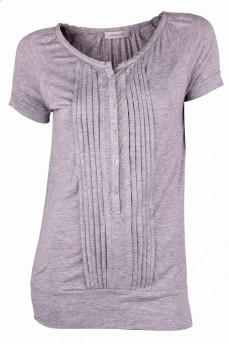 Блуза серая из тонкой ткани лиоцель