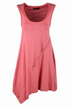 Платье-туника с асимметричным подолом античная роза замки