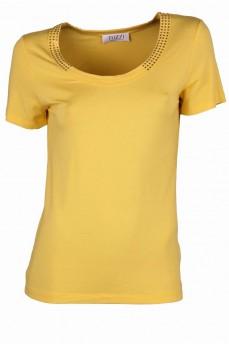 Блуза короткий рукав декорированная стразами Swarovski