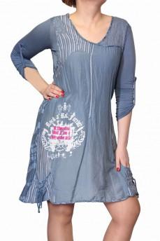 Платье комплект голубое из маркизета