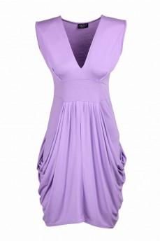 Платье  туника сиреневое