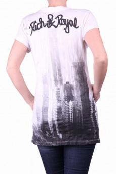 Удлиненна футболка с принтом город