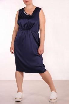 Платье футляр с фигурным вырезом и кружевной цепочкой шелковое