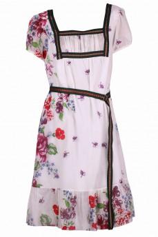Платье из маркизета отделка зеленая  тесьма
