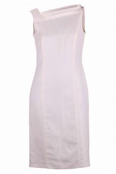 Платье льняное с дизайнерским вырезом