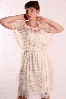 Платье из итальянского кружева макраме