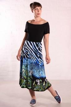 Платье длинное с принтом